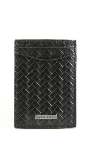Hugo Boss Porte-cartes noir imprimé allover style décontracté