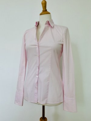 HUGO BOSS klassische Bluse rosé tailliert