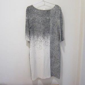 BOSS HUGO BOSS Sukienka midi w kolorze białej wełny-czarny