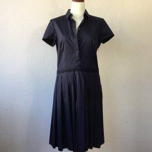 HUGO BOSS Kleid Hemdblusenkleid Gr. 36 Blau Baumwolle Sommerkleid Damen