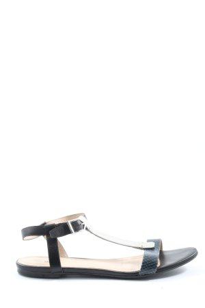 Hugo Boss Komfort-Sandalen schwarz-blau Steppmuster Casual-Look