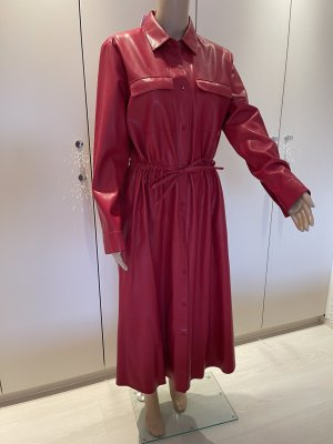 Hugo Boss Leather Dress dark red