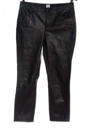 Hugo Boss Faux Leather Trousers black casual look