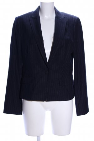 Hugo Boss Kurz-Blazer blau Streifenmuster Business-Look