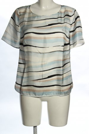 Hugo Boss Kurzarm-Bluse abstraktes Muster klassischer Stil
