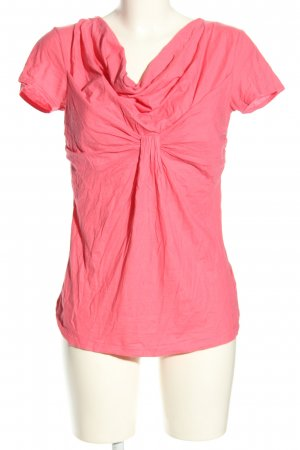 Hugo Boss Kurzarm-Bluse pink Casual-Look