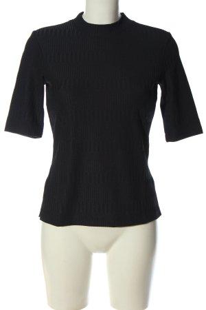 Hugo Boss T-Shirt schwarz Streifenmuster Casual-Look