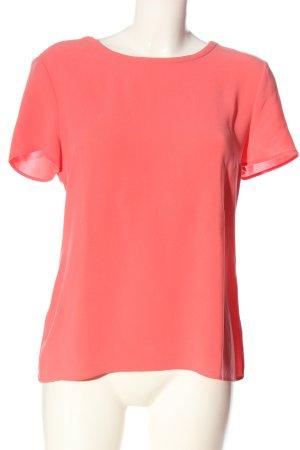 Hugo Boss Kurzarm-Bluse pink Business-Look