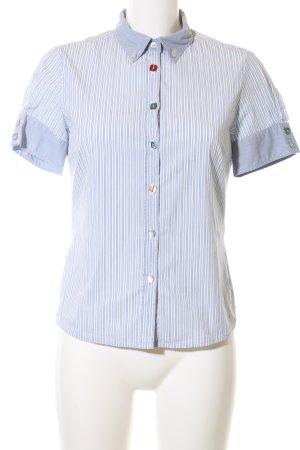 Hugo Boss Shirt met korte mouwen blauw-wit gestreept patroon casual uitstraling