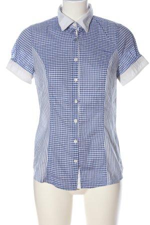 Hugo Boss Shirt met korte mouwen blauw-wit geruite print zakelijke stijl