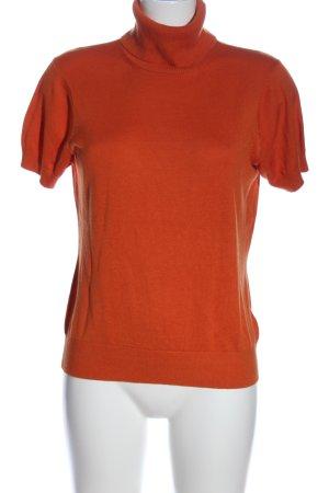 Hugo Boss Sweater met korte mouwen licht Oranje casual uitstraling
