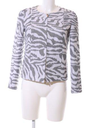 Hugo Boss Kurzjacke hellgrau-weiß abstraktes Muster Elegant