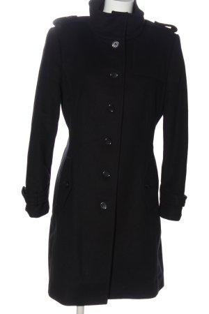 Hugo Boss Krótki płaszcz czarny W stylu biznesowym