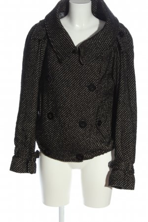 Hugo Boss Krótki płaszcz czarny-w kolorze białej wełny W stylu casual