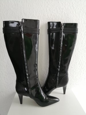 Hugo Boss High Heel Boots black leather