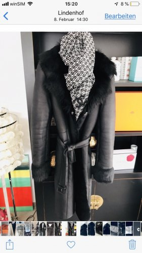 BOSS HUGO BOSS Płaszcz zimowy czarny
