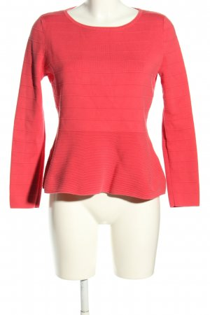 Hugo Boss Langarm-Bluse rot Streifenmuster Casual-Look