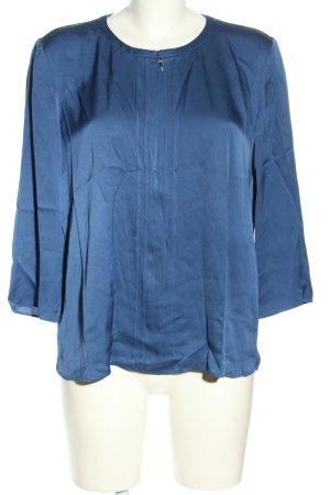 Hugo Boss Langarm-Bluse blau Business-Look