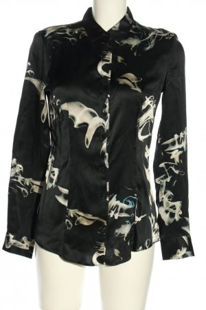 Hugo Boss Langarm-Bluse abstraktes Muster Casual-Look