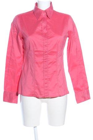 Hugo Boss Langarm-Bluse pink Casual-Look