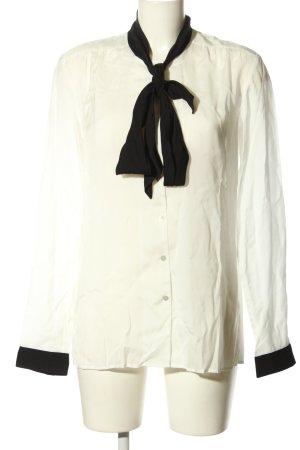 Hugo Boss Langarm-Bluse weiß-schwarz Casual-Look