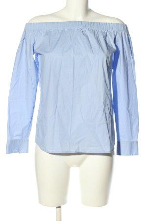 Hugo Boss Langarm-Bluse blau Casual-Look