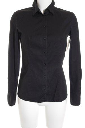 Hugo Boss Langarm-Bluse schwarz klassischer Stil