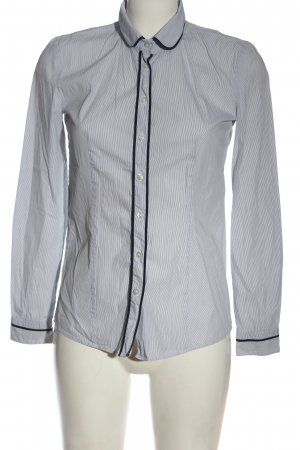 Hugo Boss Langarmhemd weiß-schwarz Streifenmuster Casual-Look