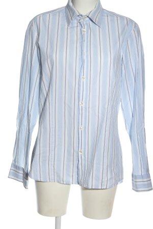 Hugo Boss Langarmhemd weiß-blau Streifenmuster Business-Look