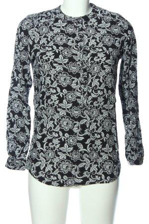 Hugo Boss Langarmhemd schwarz-weiß Allover-Druck Casual-Look