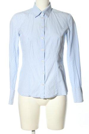 Hugo Boss Langarmhemd blau-weiß Allover-Druck Casual-Look