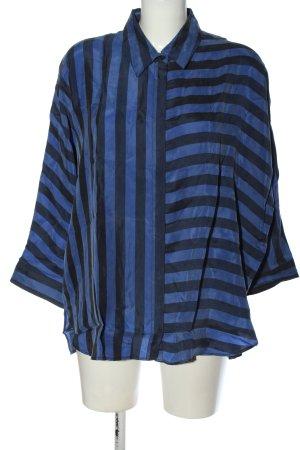 Hugo Boss Langarmhemd blau-schwarz Streifenmuster Casual-Look
