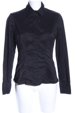 Hugo Boss Shirt met lange mouwen zwart zakelijke stijl
