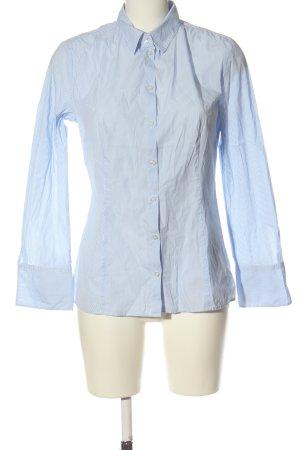 Hugo Boss Langarmhemd weiß-blau Streifenmuster Elegant