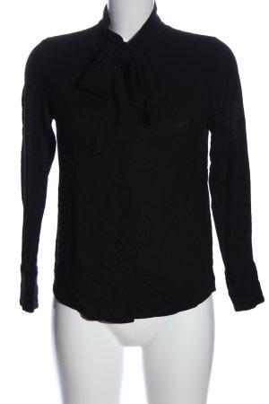 Hugo Boss Langarmhemd schwarz Casual-Look
