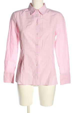 Hugo Boss Langarmhemd pink-weiß Streifenmuster Business-Look