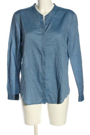 Hugo Boss Langarmhemd blau Casual-Look