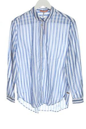 Hugo Boss Camicia a maniche lunghe blu-bianco motivo a righe stile casual