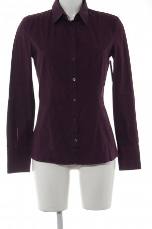Hugo Boss Langarmhemd purpur Business-Look