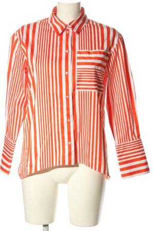 Hugo Boss Langarmhemd rot-weiß Streifenmuster Casual-Look