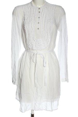 Hugo Boss Vestido de manga larga blanco elegante