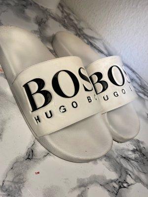 Hugo Boss Sandales à talons hauts et lanière blanc-noir