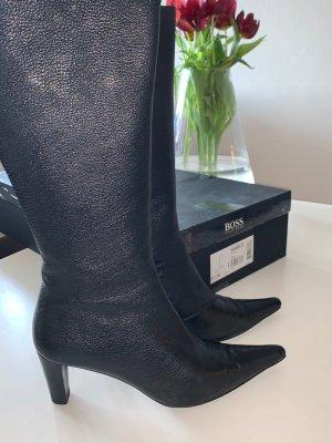 Hugo Boss Laarzen met hoge hakken zwart Leer