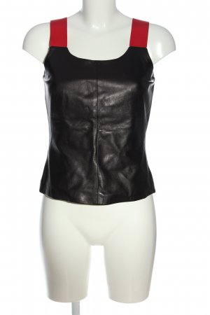 Hugo Boss Leather Blouse black-red casual look