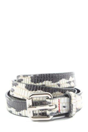 Hugo Boss Leather Belt black-white allover print casual look