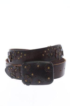 Hugo Boss Cinturón de cuero marrón elegante