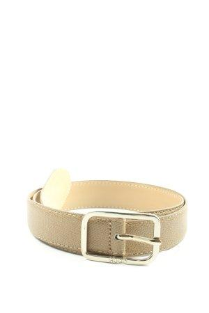 Hugo Boss Cintura di pelle bianco sporco stile casual