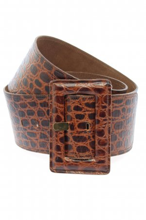Hugo Boss Leather Belt brown-nude allover print casual look