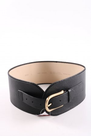 Hugo Boss Leather Belt black-natural white casual look