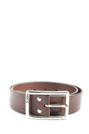 Hugo Boss Cinturón de cuero marrón look casual